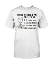 Wine Three Things Skilled Classic T-Shirt tile