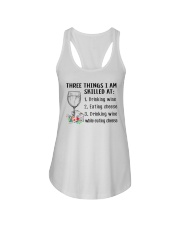 Wine Three Things Skilled Ladies Flowy Tank thumbnail