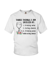 Wine Three Things Skilled Youth T-Shirt thumbnail