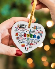 Ornament Global Pandemic Heart Heart ornament - single (porcelain) aos-heart-ornament-single-porcelain-lifestyles-08