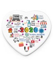 Ornament Global Pandemic Heart Heart ornament - single (porcelain) front