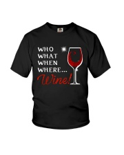 Wine Who What When Where Youth T-Shirt thumbnail