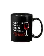 Wine Who What When Where Mug thumbnail