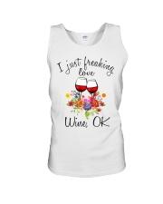 I Just Freaking Love Wine  Unisex Tank thumbnail