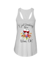 I Just Freaking Love Wine  Ladies Flowy Tank thumbnail