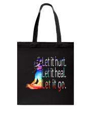 Yoga Let It Hurt Tote Bag thumbnail