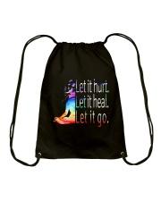 Yoga Let It Hurt Drawstring Bag thumbnail
