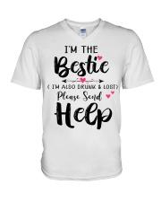 Wine Bestie Helf V-Neck T-Shirt thumbnail