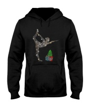 Yoga Christmas Hooded Sweatshirt front