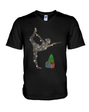 Yoga Christmas V-Neck T-Shirt tile