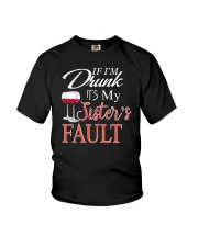 Wine If I'm Drunk Youth T-Shirt thumbnail