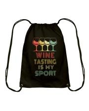 Wine Tasting Is My Sport Drawstring Bag thumbnail