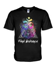 Find Balance Yoga  V-Neck T-Shirt thumbnail