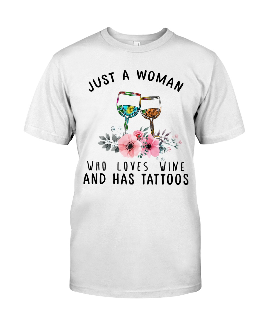 Wine And Tattoos Classic T-Shirt