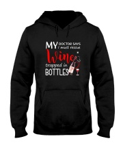 Wine My Doctor Says Hooded Sweatshirt front