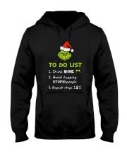 Wine To Do List  Hooded Sweatshirt front