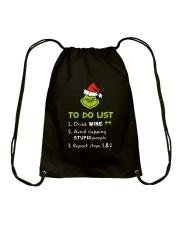 Wine To Do List  Drawstring Bag thumbnail