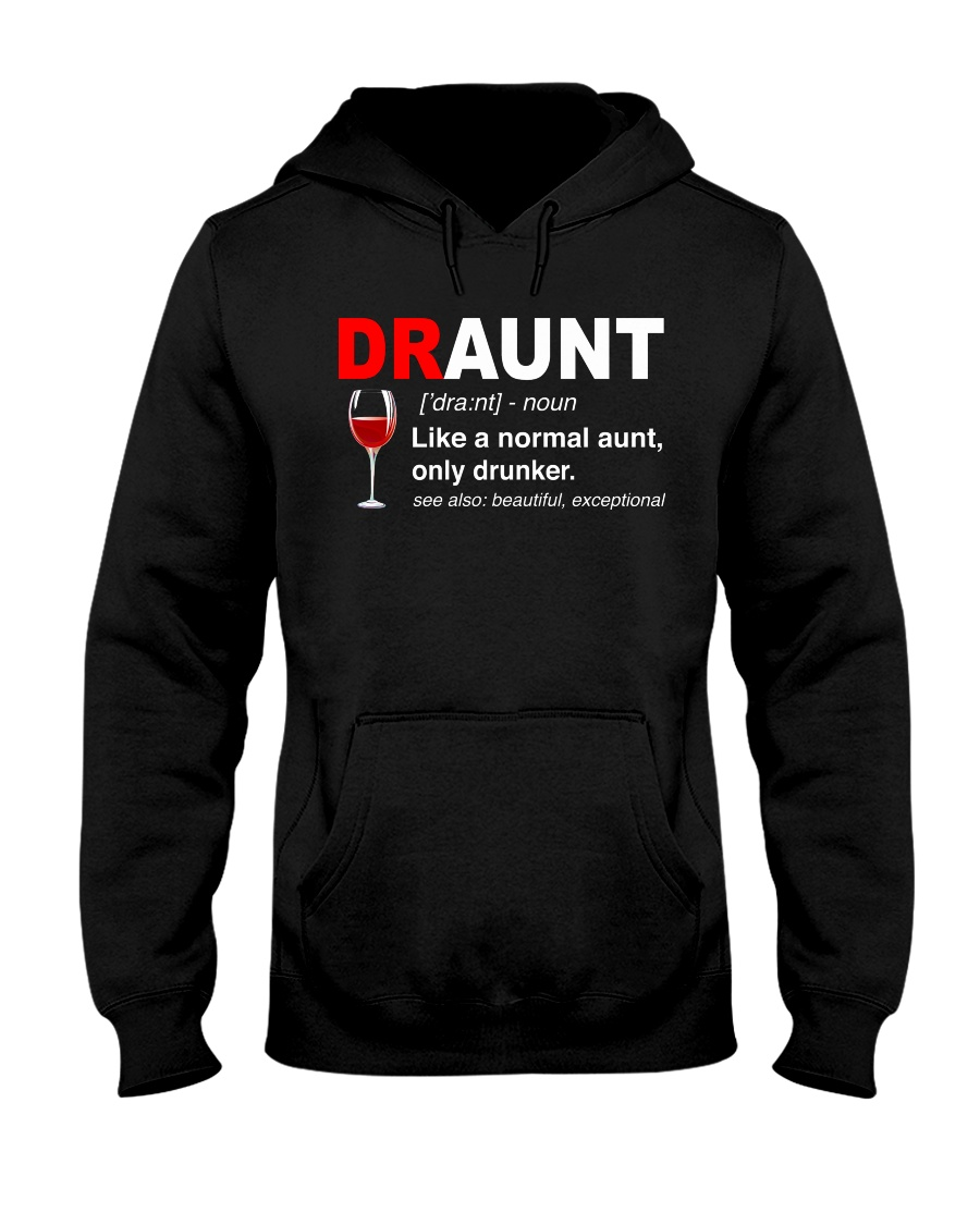 Wine Draunt Hooded Sweatshirt