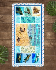 Turtle - To The Ocean - Beach Towel Beach Towel aos-towelbeach-vertical-front-lifestyle-1