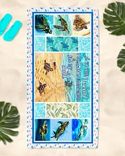 Turtle - To The Ocean - Beach Towel Beach Towel aos-towelbeach-vertical-front-lifestyle-2