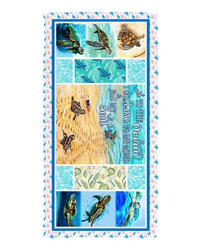 Turtle - To The Ocean - Beach Towel