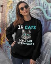 Cat lover's Products Crewneck Sweatshirt lifestyle-unisex-sweatshirt-front-3