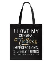 I LOVE MY CURVES Tote Bag thumbnail