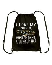 I LOVE MY CURVES Drawstring Bag thumbnail