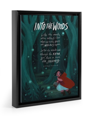 Into The Wood Quote poster - canvas print
