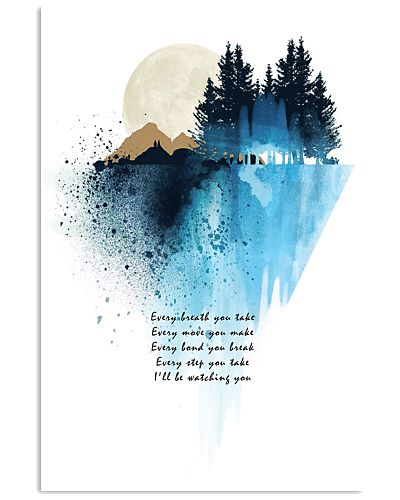 Song quote wall art print