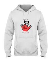A Cute Cat No Wanting Company Go Away I am Fine  Hooded Sweatshirt thumbnail