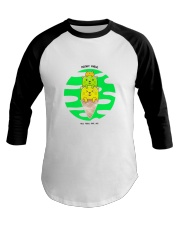 Super Cute Kitties With Their Mother Knows Meow Baseball Tee thumbnail
