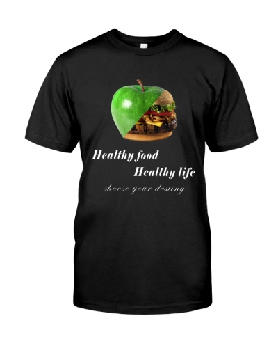 healthy food healthy life in black