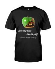 healthy food healthy life in black Premium Fit Mens Tee thumbnail