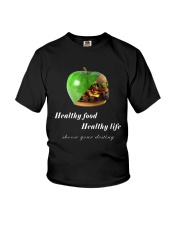 healthy food healthy life in black Youth T-Shirt thumbnail