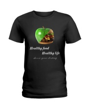 healthy food healthy life in black Ladies T-Shirt thumbnail