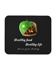healthy food healthy life in black Mousepad thumbnail