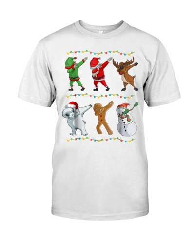 Funny Dabbing Santa and Friends T Shirts