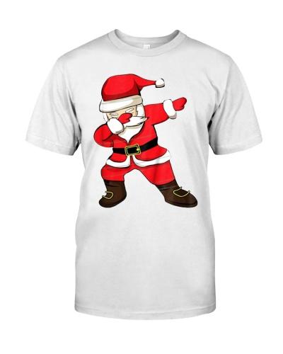 Dabbing Santa Christmas T-Shirt Santa Claus Dab