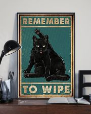 Cat Remember To Wipe Posters 11x17 Poster lifestyle-poster-2
