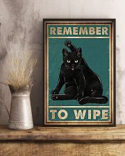 Cat Remember To Wipe Posters 11x17 Poster lifestyle-poster-3