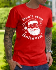 Don't Stop Believin T-Shirts Christmas Shirts Classic T-Shirt lifestyle-mens-crewneck-front-7