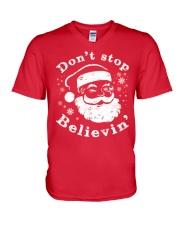 Don't Stop Believin T-Shirts Christmas Shirts V-Neck T-Shirt thumbnail