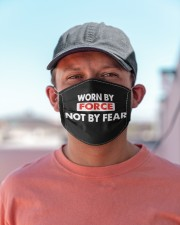 Worn By Force Not By Fear Face Masks Facemask Cloth face mask aos-face-mask-lifestyle-06