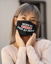 Worn By Force Not By Fear Face Masks Facemask Cloth face mask aos-face-mask-lifestyle-17