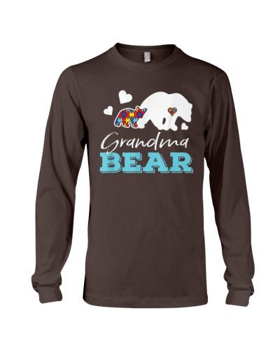 Puzzle Heart Grandma Bear Autism Awareness T Shirt