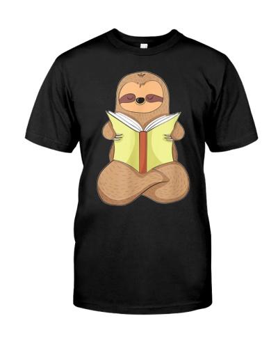 Just A Cute Sloth Reading Lazy Slothful Book Shirt