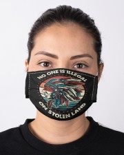 No One Is Illegal On Stolen Land Native American Cloth face mask aos-face-mask-lifestyle-01