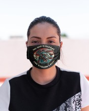 No One Is Illegal On Stolen Land Native American Cloth face mask aos-face-mask-lifestyle-03