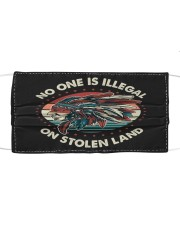 No One Is Illegal On Stolen Land Native American Cloth face mask front